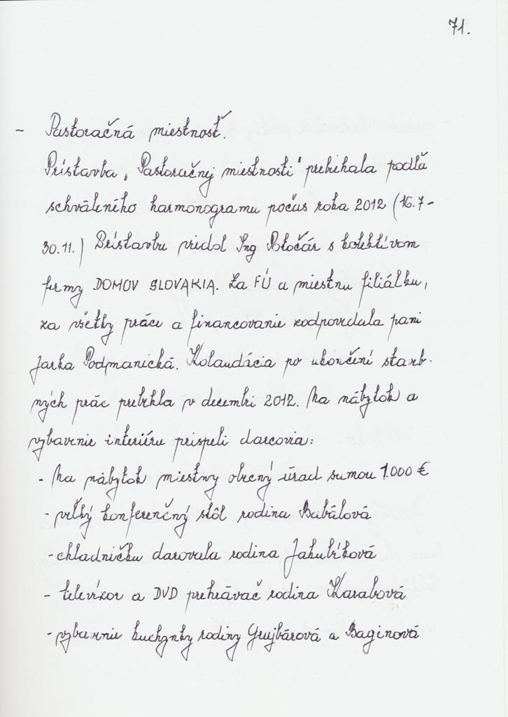 Kronika 08 - str.71 2013 spomienky